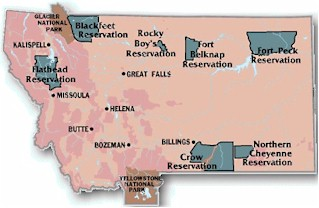 Map of Montana's Seven Tribes